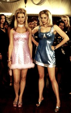 Romy and Michele...Vicki you need to see this and we should be them for Halloween