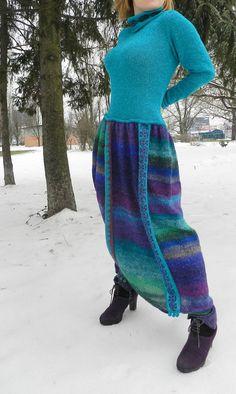 Copyright knit dress  Noro by SvetlanaRogal on Etsy