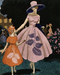 'La fête est finie' (the fête is over) organdie dress by Jeanne Lanvin