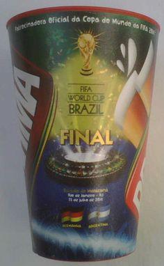Orig.mug / beaker   World Cup BRAZIL 2014  FINAL  ARGENTINA - GERMANY !! RARITY  | eBay