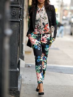i want some floral pants.. just afraid you need to be super skinny thighed to wear them.