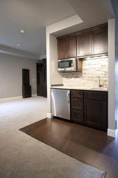 Home Recreational Room Kitchenette Basement Wet bar Bedroom Property Furniture Wet Bar Basement, Basement Kitchenette, Basement House, Basement Bedrooms, Basement Walls, Basement Ideas, Kitchenette Ideas, Basement Finishing, Small Basement Kitchen