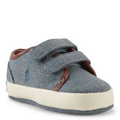 Ethan Low Chambray Sneaker - Baby Boy Shoes - Ralph Lauren UK