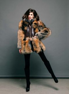 Cross Fox Fur & Leather Jacket