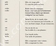 Les accents et les mots homophones - learn French,dictionary,words