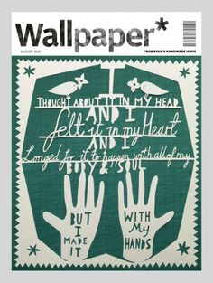 Wallpaper*'s handmade custom cover by Rob Ryan Wallpaper Magazine, Wallpaper S, Rob Ryan, Design Editorial, Magazin Covers, Creative Review, Creative Journal, Magazine Design, Paper Cutting