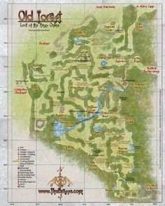 old forest map lord of the rings online