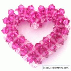 3D Crystal Beaded Heart Tutorial & more!