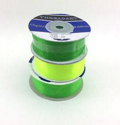 "Threadart Organza Ribbon 1/4"" Thick, 20 Meters"