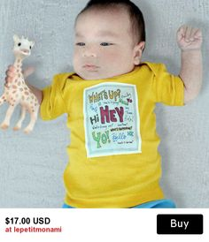 HIPSTER BABY CLOTHES, Whats up! Modern baby clothes, Baby t shirts, Baby onesies, Baby gifts, Baby shower gifts, Cute ba