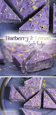 blueberry & lemon fudge recipe using only 4 ingredients. #glutenfree #dairyfree #vegan