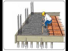 como calcular el volumen de concreto (hormigón) en techo - YouTube