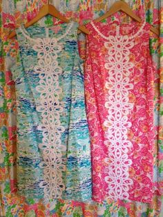 """Lily Pulitzer Shift Dresses in """"High Tide Toile"""" and """"Chum Bucket"""" (Summer 2012)"""
