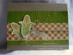 A Corny Thank You by happy2stamp4ever - Cards and Paper Crafts at Splitcoaststampers==