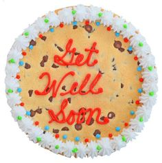 Get Well Soon Giant Cookie