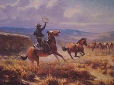 olaf wieghorst - Cowboy Horse, Cowboy Art, Western Cowboy, Bev Doolittle, Farm Paintings, Cowboy Pictures, Le Far West, Country Art, Mountain Man