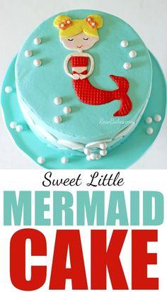 Sweet Little Mermaid Cake by RoseBakes