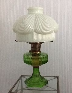Aladdin lamps fire related keywords suggestions aladdin lamps vintage 20 tall aladdin oil lamp with marshmallow green shade aloadofball Image collections