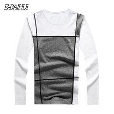 New Fashion Slim Fit Long Sleeve T Shirt Men tops Tees o-Neck Casual Men T-Shirt Cotton T Shirts