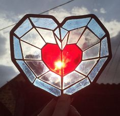 Heart container  The legend of Zelda от stainedglassgeek на Etsy
