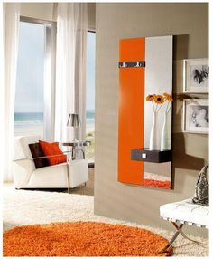 Recibidor naranja. Furniture hall  #muebles  #furniture  #Málaga  http://www.decorhaus.es/