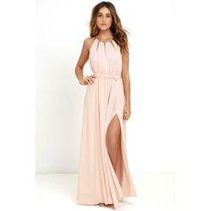 Gleam and Glide Blush Pink Maxi Dress