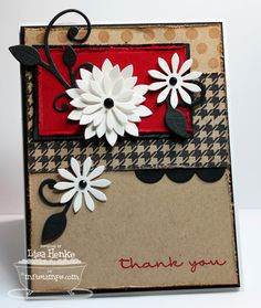 MFTMar-Thank-you daisy by lisahenke - Cards and Paper Crafts at Splitcoaststampers
