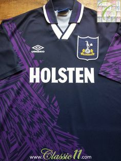 Relive Tottenham Hotspur s 1994 1995 season with this vintage Umbro away  football shirt. Classic 0723f7eef
