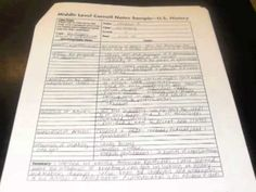 Cornell Note Taking Example In Case My Children Need To Learn