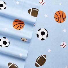 Home Classics Sports Flannel Sheet Set $35.99