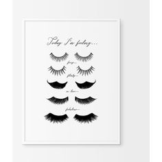 Eye Lashes Fashion Print, Wall Decor, Minimal Art, Glamour, Fashion... ($5.09) ❤ liked on Polyvore featuring home, home decor, wall art and printable wall art