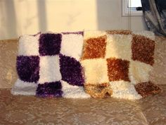 Knitted Feather Car seat or bassinette blankets