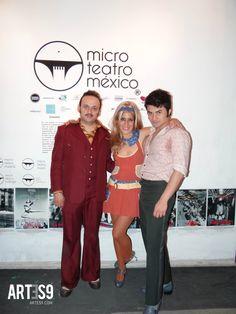 Lalo España, Mosnserrat Marangón y Ricardo Polando en Micro Teatro 2015