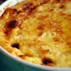 One of the best comfort foods for fall, this corn pudding is great on a cold evening! Thanksgiving Recipes, Holiday Recipes, Great Recipes, Favorite Recipes, Recipes Dinner, Thanksgiving Table, Delicious Recipes, Appetizer Recipes, Corn Pudding Recipes
