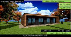 Maison cubique cube ou carree en ossature bois par votre architecte constructeur: plans permis de construire et construction cubique   www.maisonsarchiforet.com