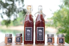 Homemade bbq sauces and rubs make a cute and useful wedding favor.  Imagine them with your own custom label!
