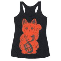 Japanese Lucky Cat Racerback