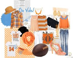 Game Day Fashion SEC Team TENNESSEE
