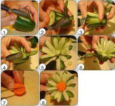 DIY vegetable flower