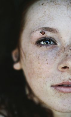 """Shanice"" by Chance {ladybug on freckled face female portrait photography}"