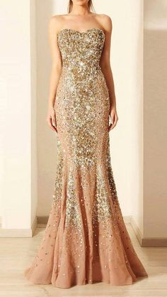 Long sparkly gown