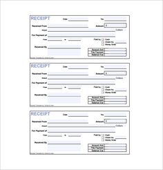 basic rent receipt microsoft word template and pdf printout