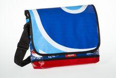 Messenger Bagy: blue white blue