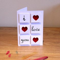 I Love You - Valentines Day Card