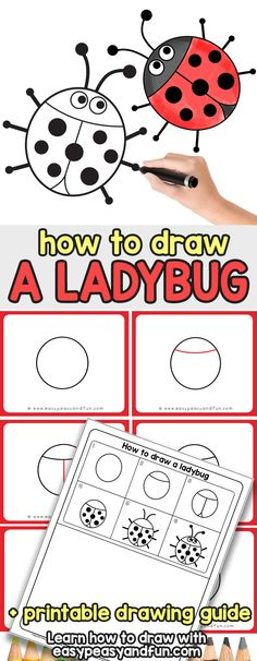 46 ideas easy art projects for kids step by step drawing lessons Easy Drawings For Kids, Drawing For Kids, Art For Kids, Easy Art Projects, Projects For Kids, Bugs Drawing, Drawing Drawing, Learn Drawing, Drawing Tips