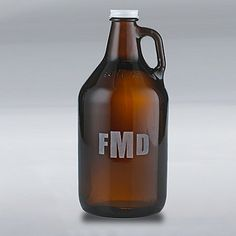 Monogrammed Growler at Wine Enthusiast - $29.95