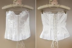 Delightfully feminine sexy 'Buckholz' glossy ivory nylon satin and embroidered lace boned lace up torsolette bustier basque - 4222 Girdles, Vintage Lingerie, Lingerie Collection, Embroidered Lace, Corsets, 1980s, Vintage Dresses, Ivory, Feminine