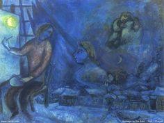 chagall #artist #art #artworks #Marc-Chagall #marcchagall #jewish #blue