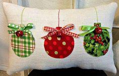 Navidad almohada almohadilla de arpillera Navidad decoración