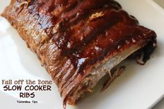 Fall off the bone Slow Cooker Ribs!